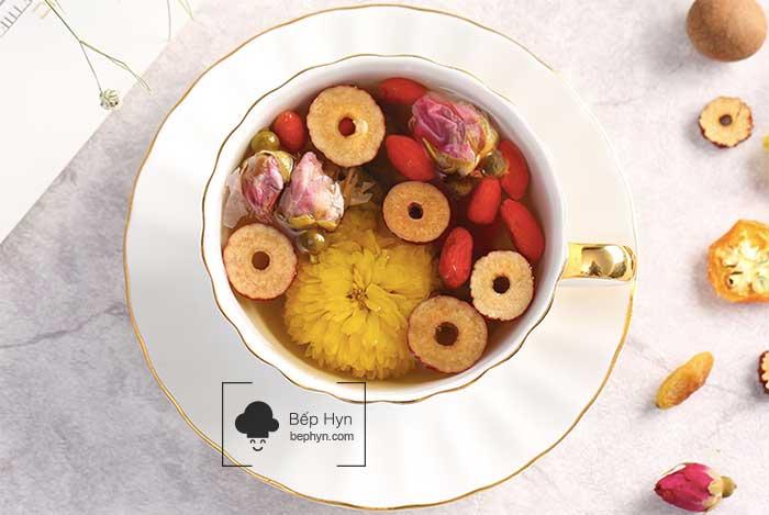 Công thức trà thảo mộc trái cây sấy khô