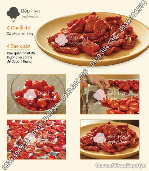 Công thức làm cà chua bi sấy
